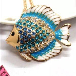 Betsey Johnson Jewelry - Betsey Johnson fish necklace